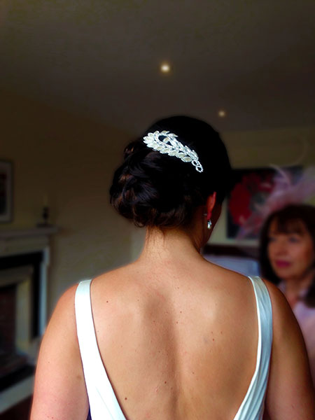 Bridal hair up Dorset
