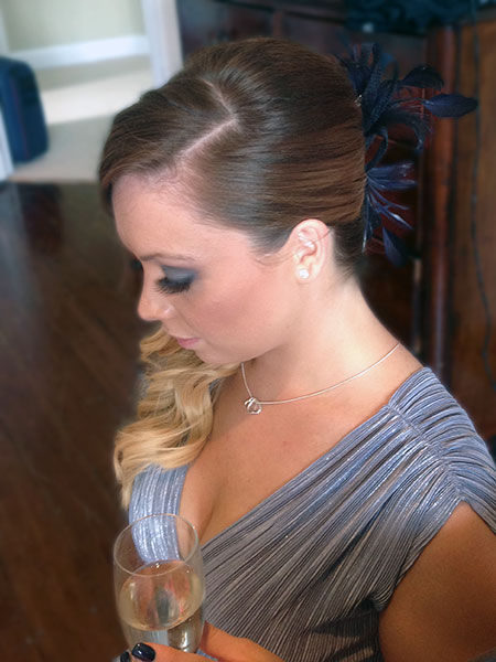 Bridesmaid hair up Dorset