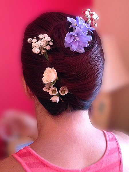 Wedding hair up hampshire