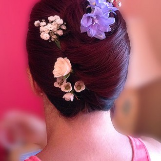 Bridesmaid hair Dorset