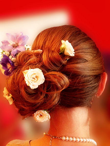 Wedding hair up dorset
