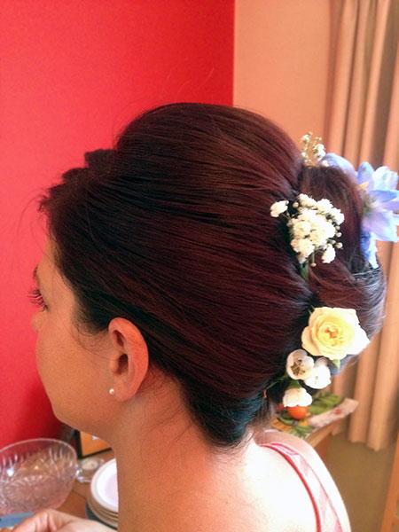 Bridesmaid hair up Bournemouth