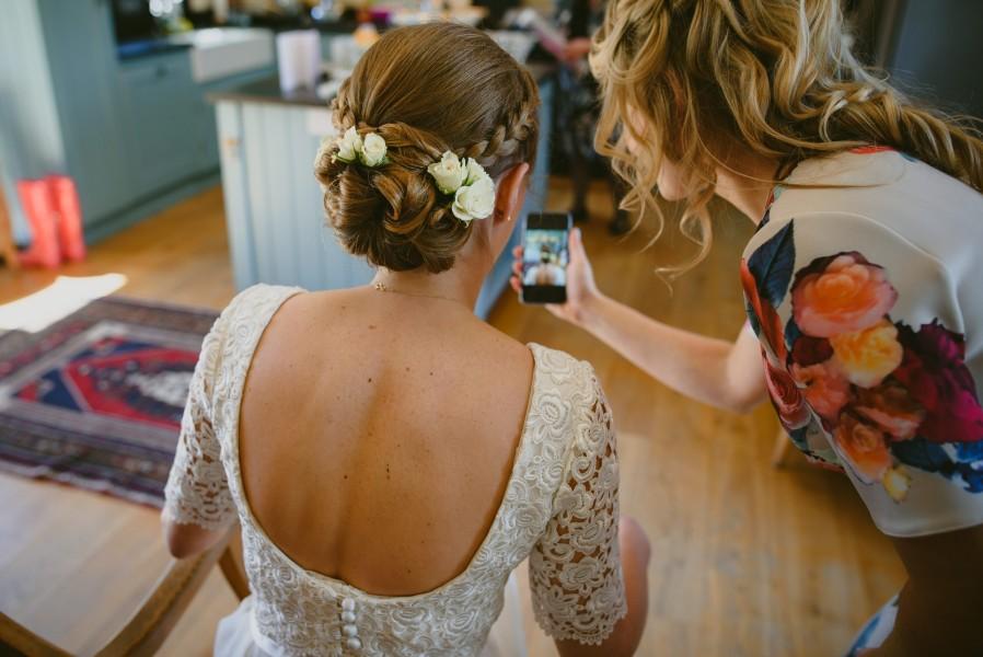 Hinton bridal hair