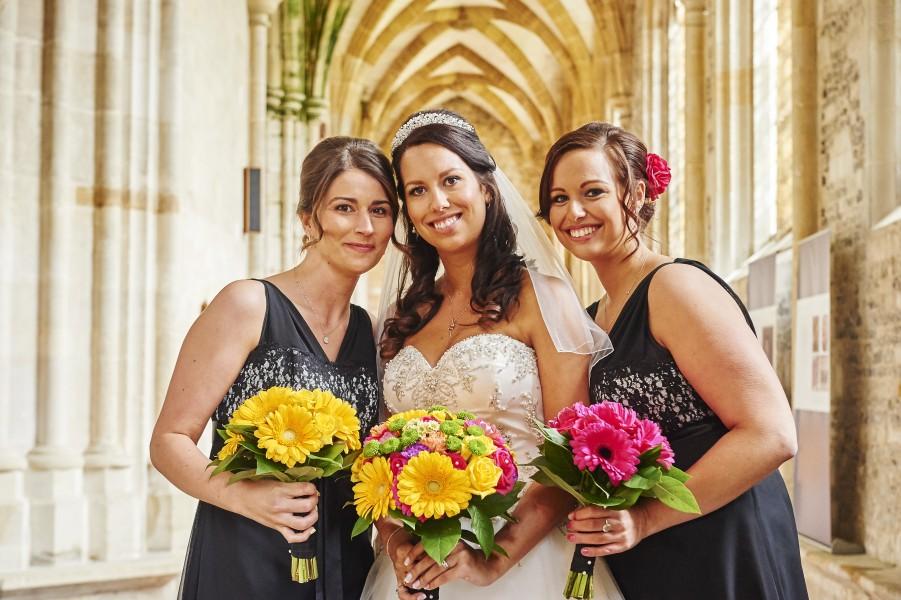 bride bridesmaid dorset