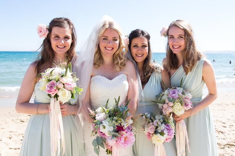 beach bridal hair in bournemouth